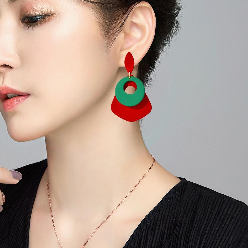 11月09日最新优惠长款气质韩国亚克力秋冬个性耳环