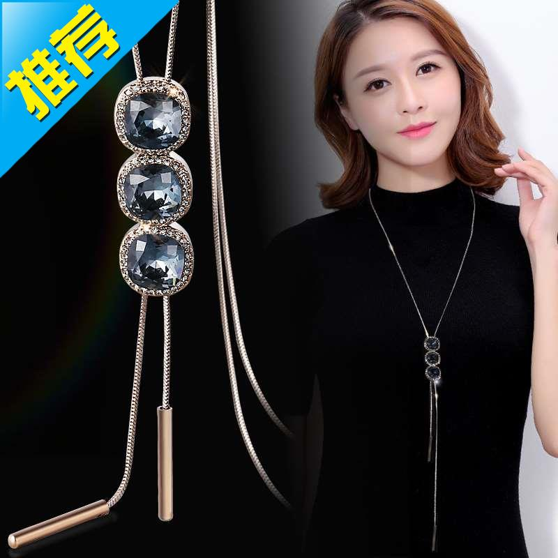 Tassel crystal sweater chain long decoration Necklace accessories women 4 with clothes pendant autumn and winter personality versatile hanging