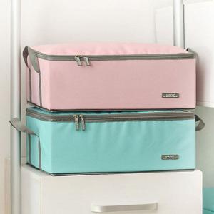 可折叠收纳箱装衣服的箱子布艺有盖收纳盒衣服收纳神器家用储物箱图片