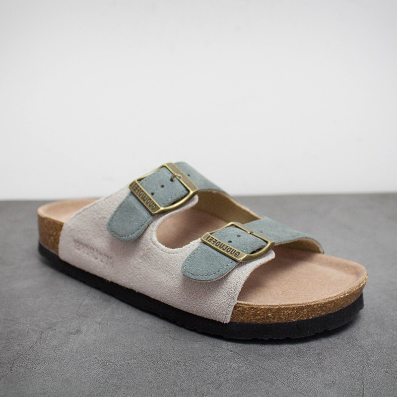 Wanghongri: yuansuo cork slippers for men and women couple sandals