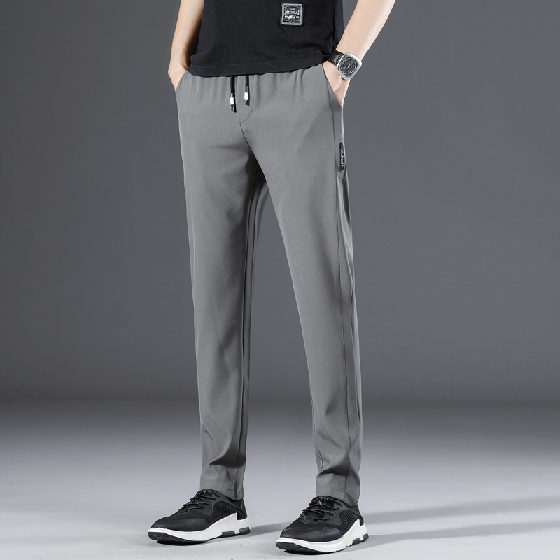 Autumn 2020 new casual pants solid color trousers mens bodywear sportswear trend versatile overalls mens pants