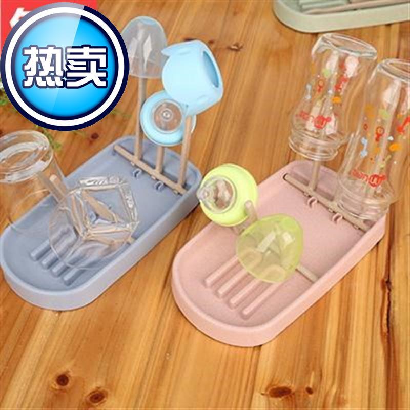 婴儿奶瓶沥水架餐具折叠收纳盒便携放置晾干架宝宝奶瓶储存干燥J