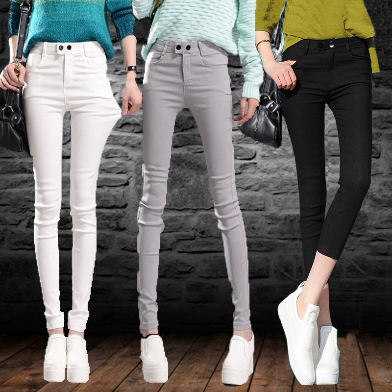Leggings 2020 new pants womens spring autumn thin summer tight outer wear versatile lengthening slim feet 7 points