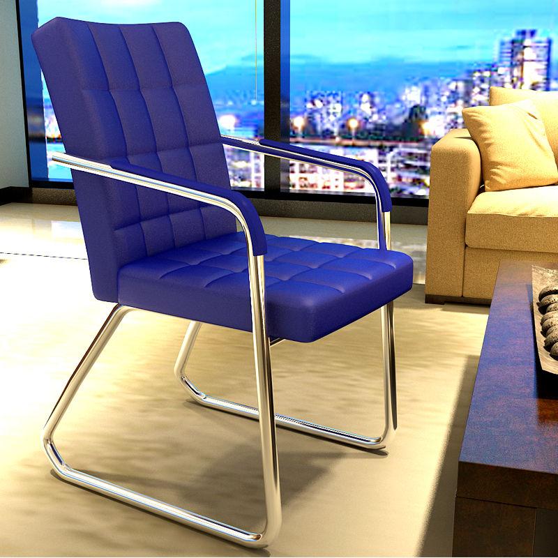 办公椅 家用电脑椅职员椅会议椅麻将椅四脚弓形椅子 会客椅网布椅