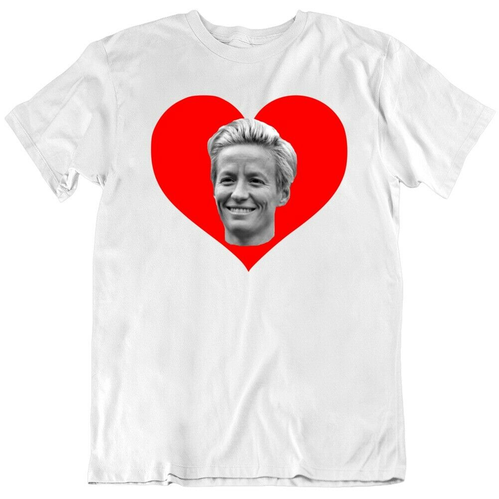 Megan rapinoe mens and womens short sleeve T-shirt with no trace warmth half sleeve casual hip-hop printing and dyeing