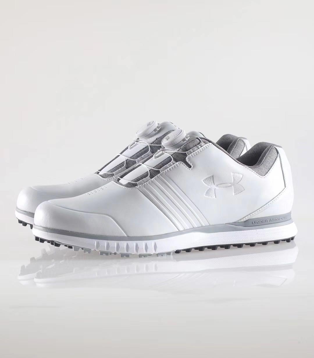 高尔夫球鞋男款平底防滑防水固定钉板鞋男士运动球鞋休闲鞋子
