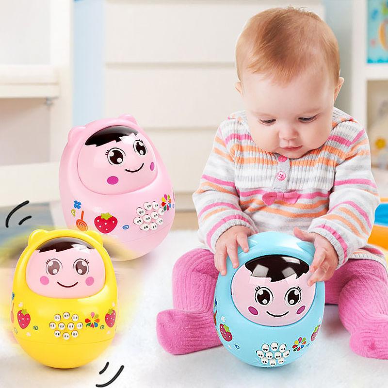 大号婴幼儿早教不倒翁玩具灯光音乐故事机宝宝益智