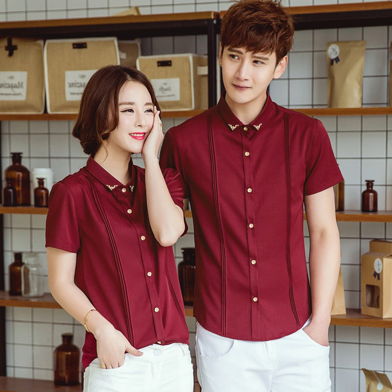 V-style hotel work clothes KTV waiter uniform western restaurant coffee shop clothes master bar promotion shirt