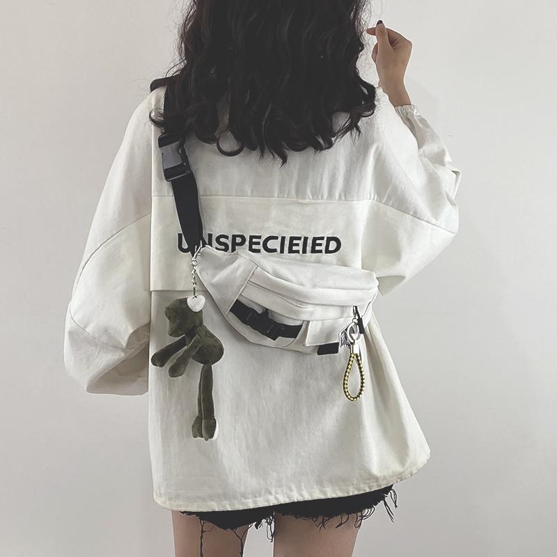 2020新款包包网红ins日系原宿工装胸包女韩版学生帆布斜挎腰包潮图片