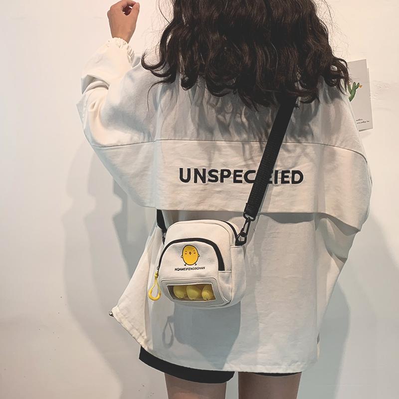 韩版ins少女软妹斜挎包女chic日系学生可爱帆布包小清新小包包女