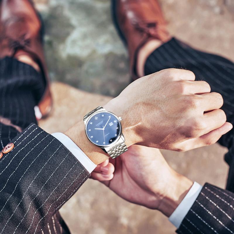 2019新款瑞士正品tangin男士牌子手表天珺机械表天俊男款名牌手表11-27新券