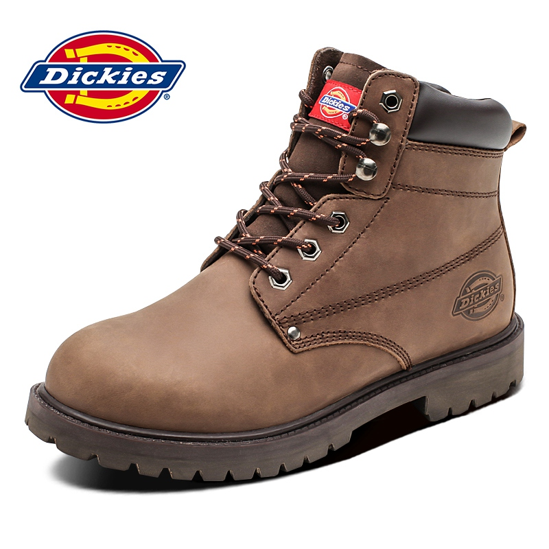 dickies Martin boots men's autumn shoes 2020 new high-top rhubarb boots brown retro leather tooling boots
