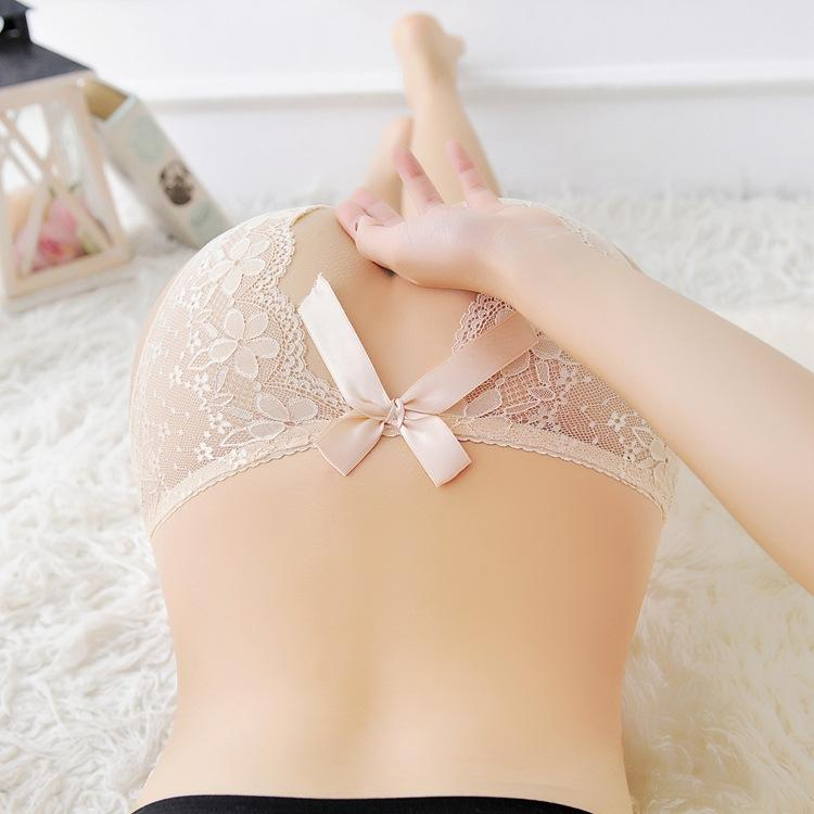 Sexy underwear open allure sexy transparent hair free outdoor passion straight into lace thong pants female super Sao