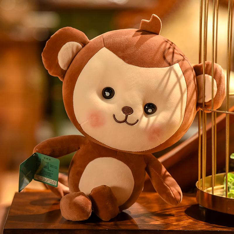 可爱猴子公仔女生女孩布娃娃生日礼物羽绒棉小号儿童玩偶毛绒玩具
