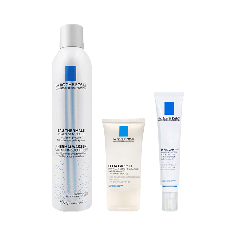 理肤泉清痘水油平衡保湿面部护理套装敏感肌控油紧致毛孔去角质