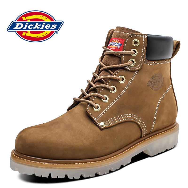 Dickies men's winter Martin shoes rhubarb boots high-top tooling boots men's British leather thick-soled short boots tide