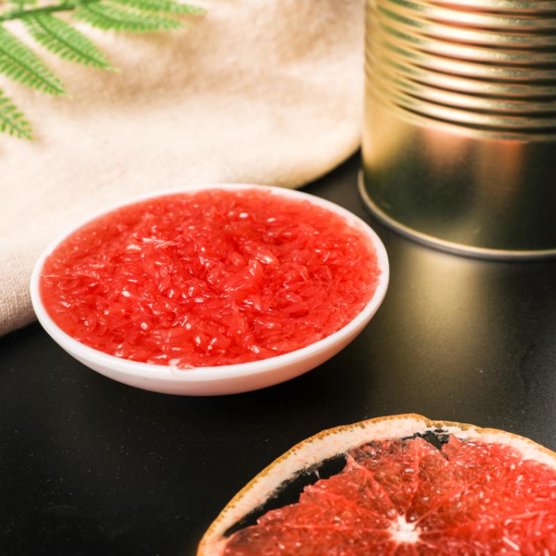 2020新货红西柚果粒罐头红葡萄柚颗粒果酱满杯西柚水果茶奶茶店原