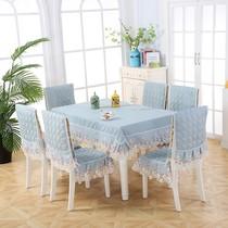餐桌椅子套罩布椅套椅垫家用套装桌布布艺长方形现代简约茶几erro