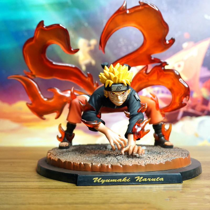 Naruto LS four tailed GK Nine Tailed whirlpool Naruto immortal model Pt handmade statue boxed model
