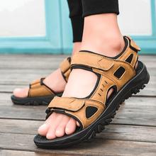夏季男凉鞋46特大码45透气男士运动沙滩鞋47露趾防滑越南凉鞋男48