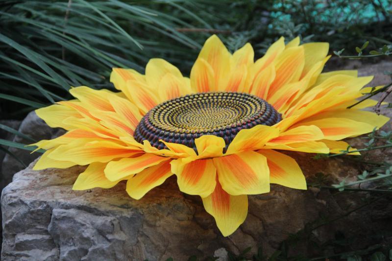 向日葵道具花 演出 舞蹈幼儿园手持花运动会开幕式表演手拿太阳花
