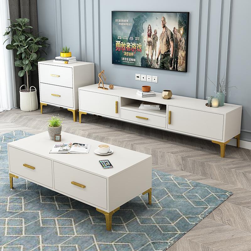 电视柜茶几组合墙柜小户型北欧现代简约客厅地柜卧室轻奢电视机柜