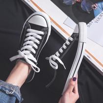 学生布鞋板鞋ulzzang潮鞋新款高帮帆布女鞋韩版百搭ins春秋鞋2019