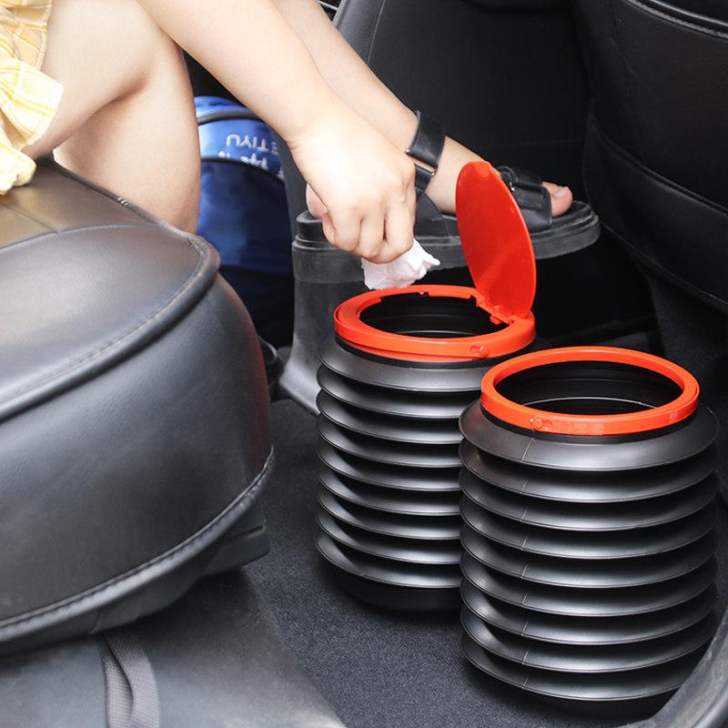 车载垃圾桶汽车内用垃圾袋可折叠伸缩雨伞桶车上创意收纳用品大全
