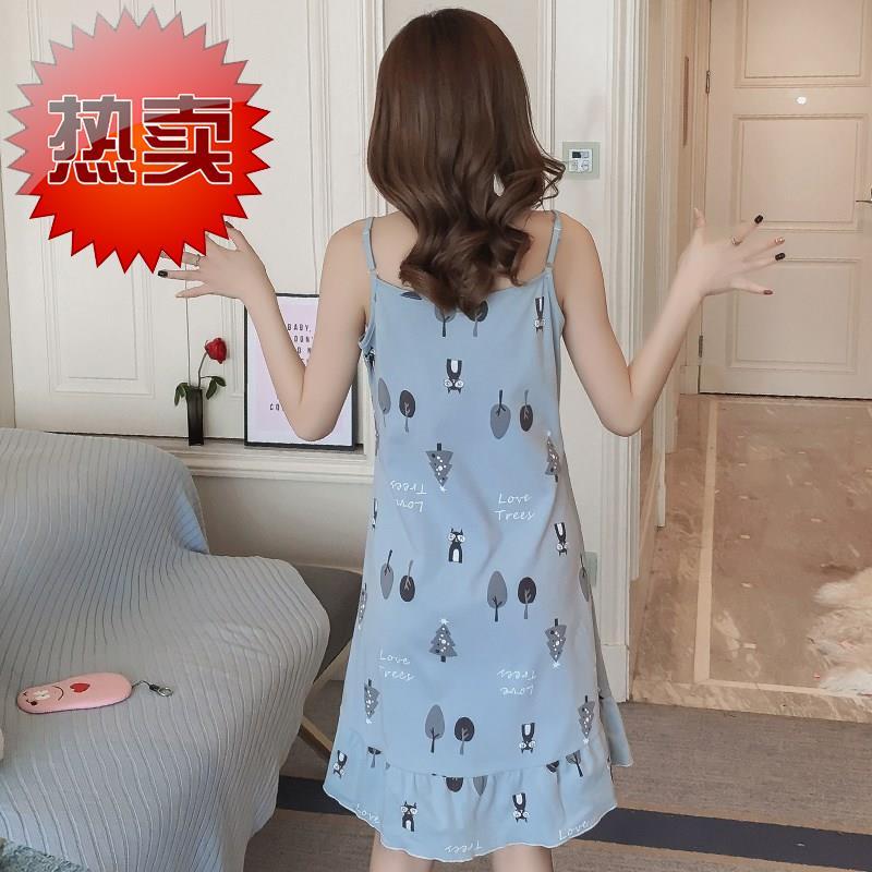 (用2.05元券)大码潮流清新夏裙夏f新款舒适睡裙