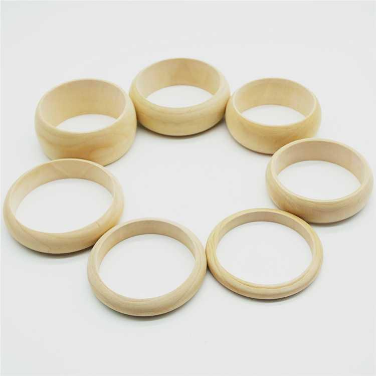 Bracelet material DIY blank tire width lacquer painting jewelry color log Bracelet art accessories wooden wood lacquer Handmade