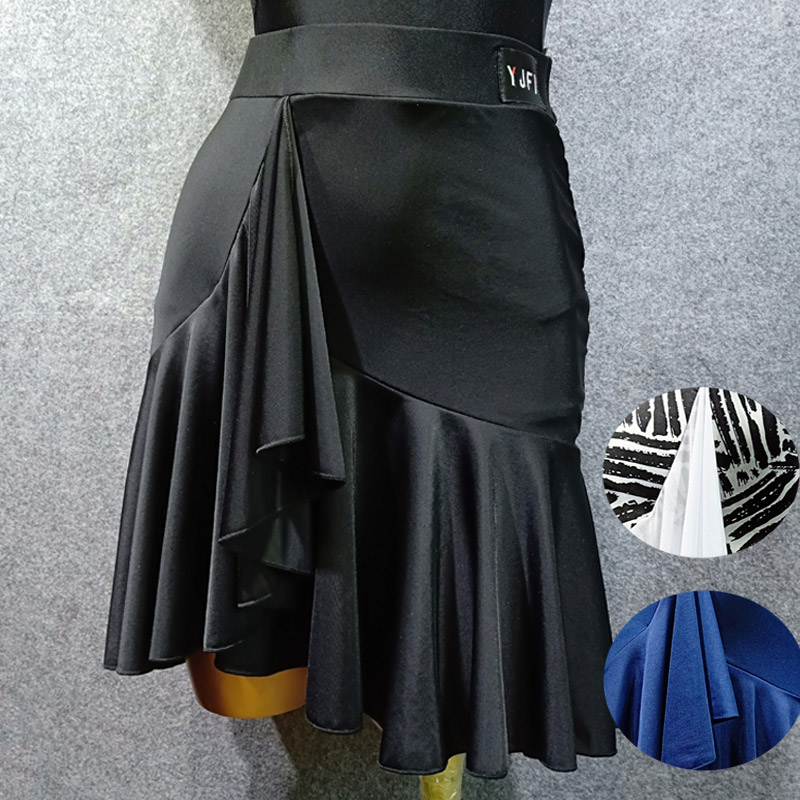 YJFY 拉丁舞服女成人新款拉丁半身裙舞蹈半身裙跳舞裙舞蹈裙BY166