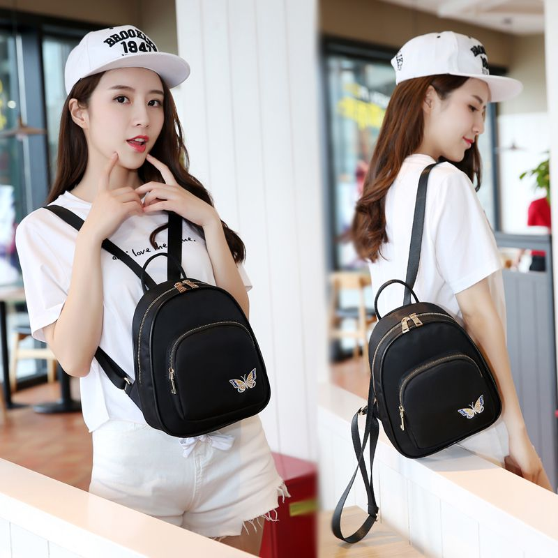 Mini Backpack womens bag Oxford canvas Korean retro embroidery backpack mix with summer leisure bag
