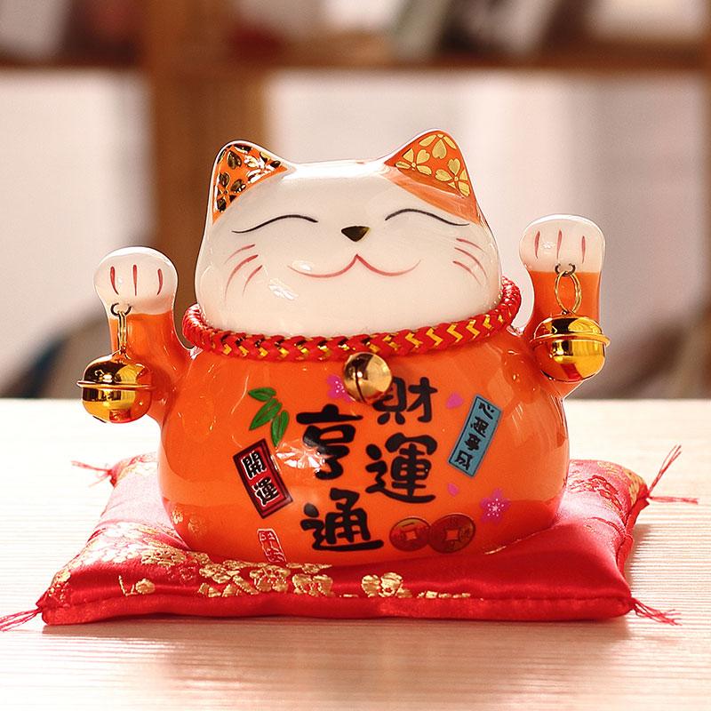 机器猫存钱罐电动陶瓷创意可爱欧式成年招财家用客厅储中号大摆件限6000张券