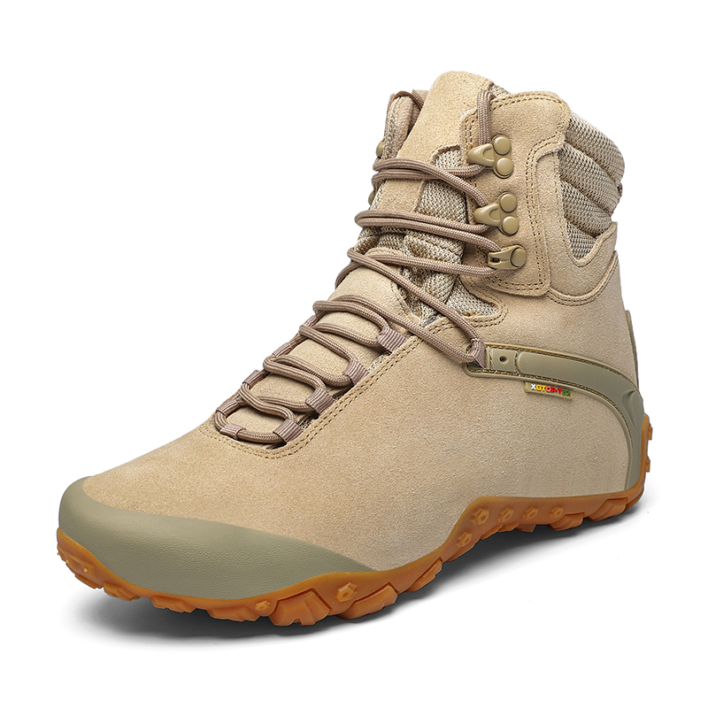 High top mountaineering shoes womens waterproof and antiskid outdoor shoes spring desert boots mens light mountaineering hiking couple shoes