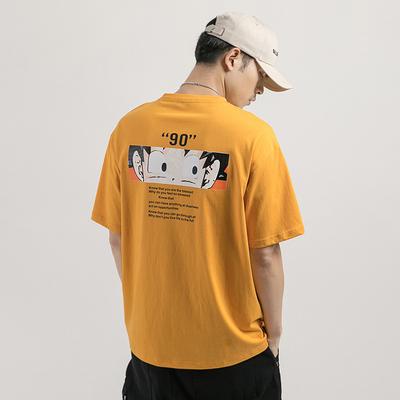 2019夏季新品日系男士悟空印花短袖t恤宽松半袖上衣F251-P35