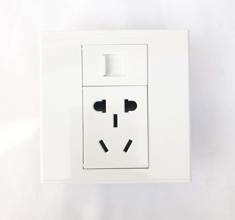 インテリジェントホームRS 485電気カーテンパネル乾接点モーターパネル2ネット口5挿入パネル白