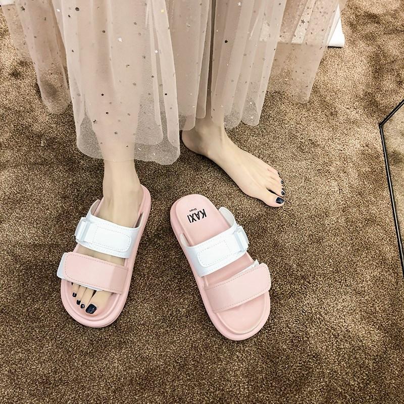 外出2020年新款夏季厚底运动风凉拖女外穿ins潮鞋时尚可湿水拖鞋