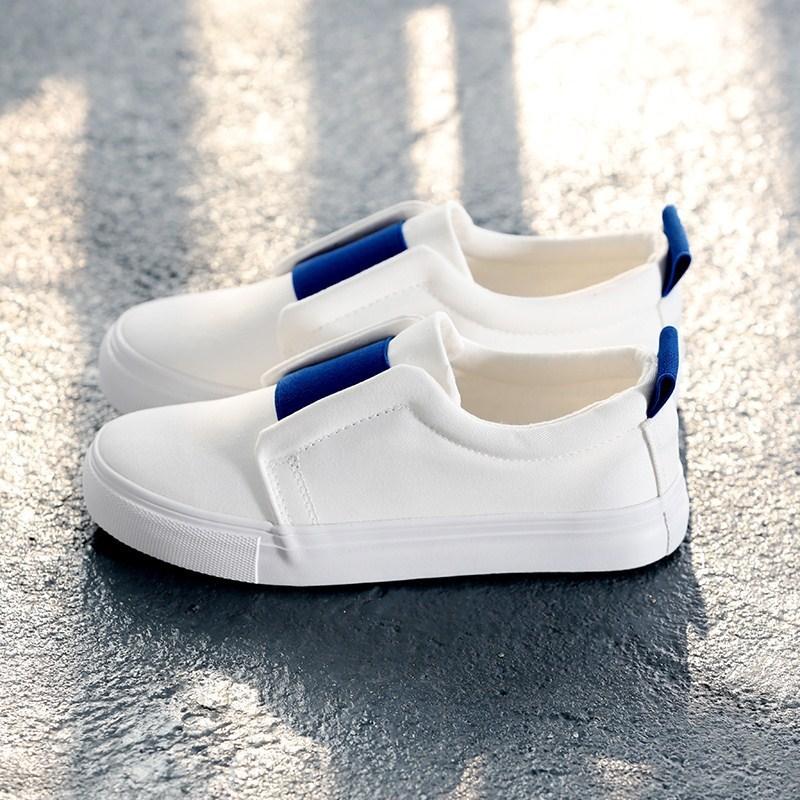 2018季新款学生帆布鞋女懒人鞋板鞋韩版白色球鞋运动平底休闲鞋。