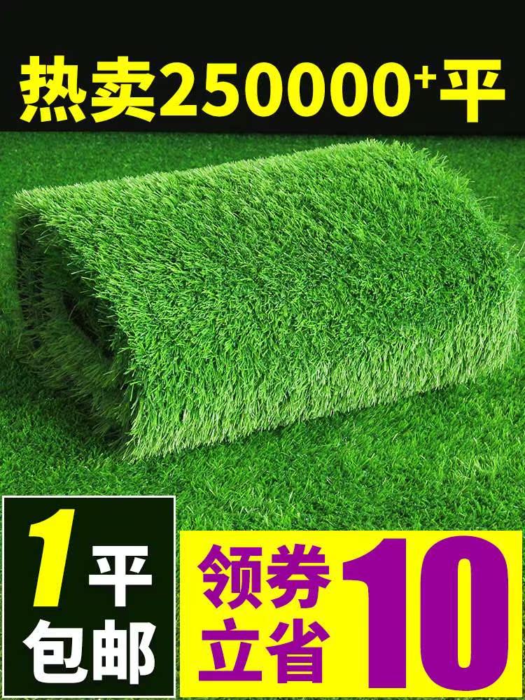 仿真草坪垫子假草皮人造绿色草地毯人工室内装饰阳台户外塑料墙面,可领取元淘宝优惠券