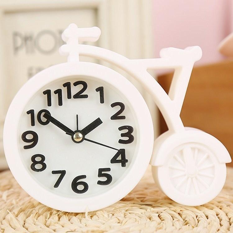 桌闹钟自定义铃声客厅数字摆件实用闹铃钟表迷你时间声音小型定