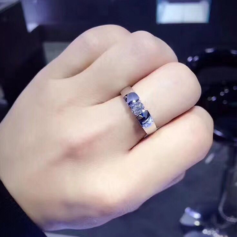 Limeng Jewelry White 18K gold diamond ring for men / couple pair jewelry mens diamond ring