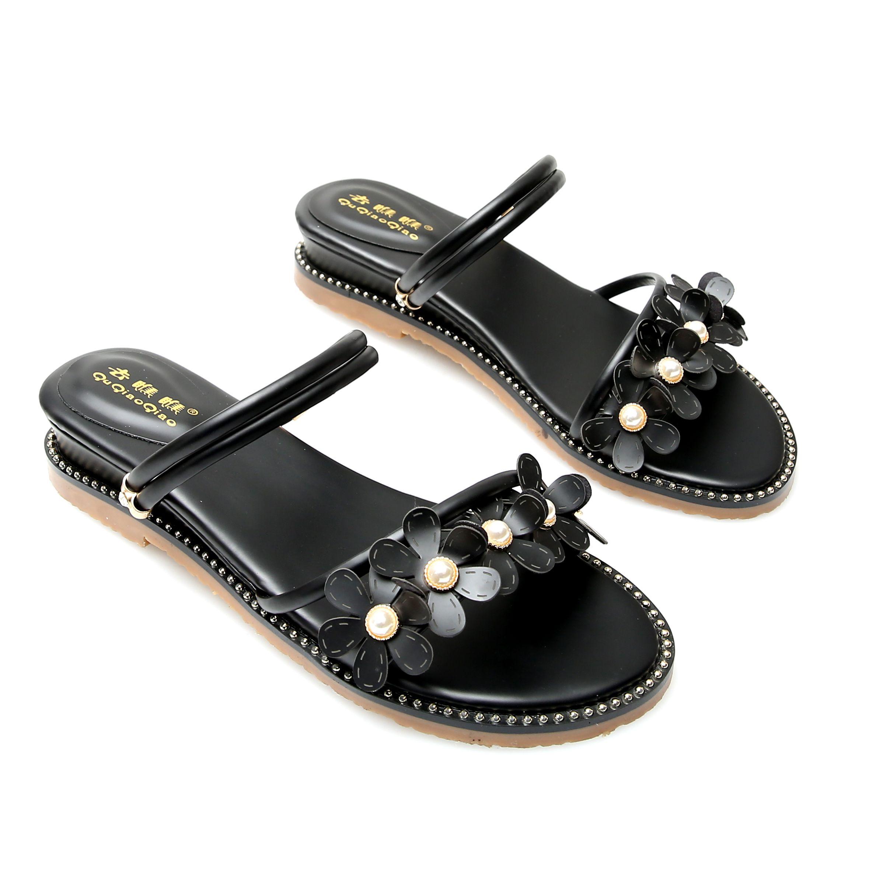 凉鞋女鞋一鞋两穿坡跟平底2019新款ins潮仙女风学生百搭网红夏季