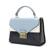 Ms. Michael Kors/MK SLOAN series color matching cowhide Handbag Shoulder straddle bag doctor's bag