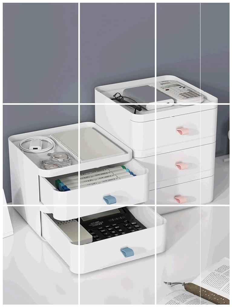 置物架桌面小尺寸迷你料纸巾盒抽屉式收纳柜书桌上学生杂物置物架