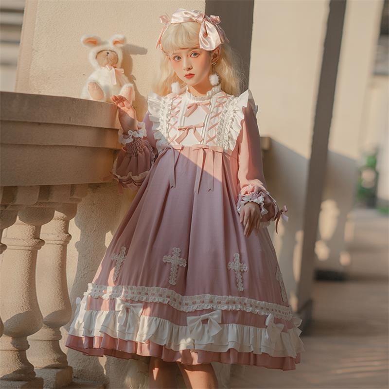 【芙拉小姐lolita】原创正品十字愿梦OP连衣裙可爱甜美日常洛丽塔