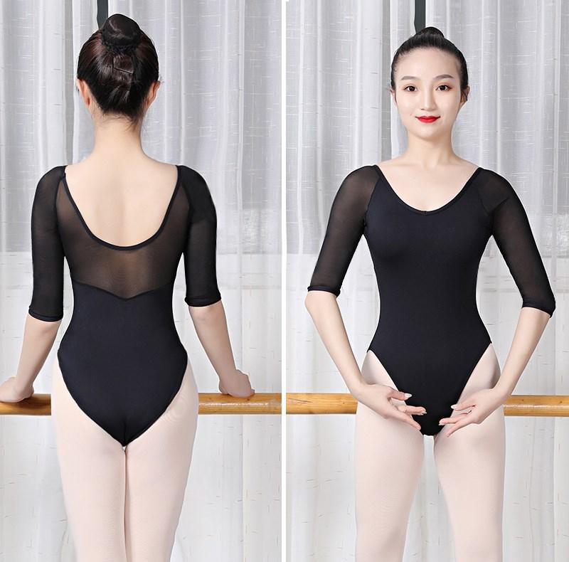 芭蕾练功服女艺考体操服基训舞蹈连体服舍宾服高胯形体。