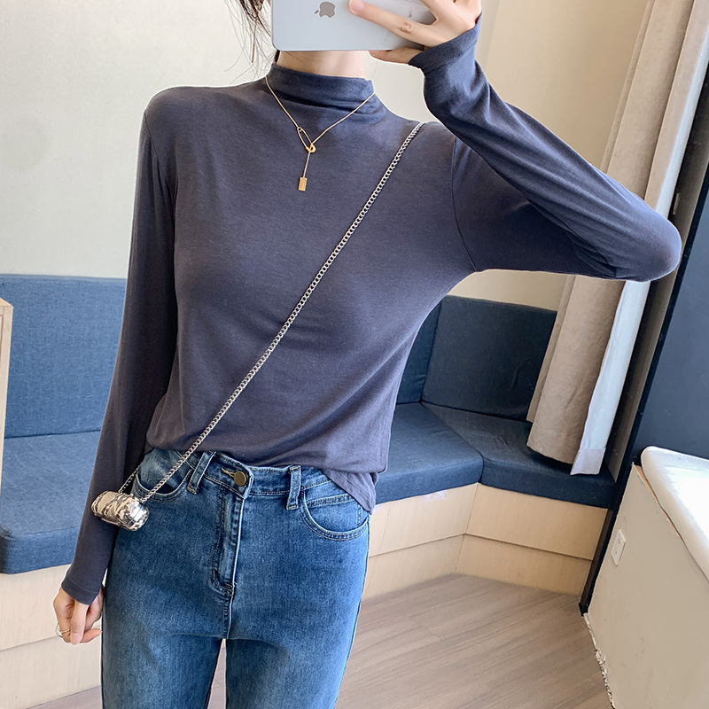 Long sleeve T-shirt womens ins wear loose bottoming shirt in autumn and winter