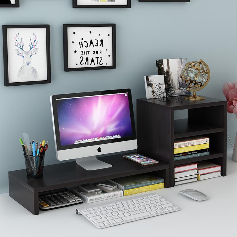 电脑显示器增高架办公室桌面键盘置物架收纳柜书架笔记本底座支架