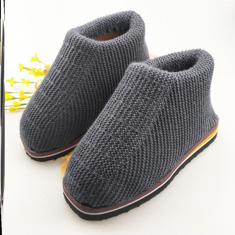 勾拖鞋的毛线手工情侣款鞋底加绒中粗棉鞋妈妈款保暖防滑女底子和