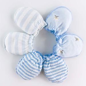防抓脸神器夏季0-3个月6纯棉手套